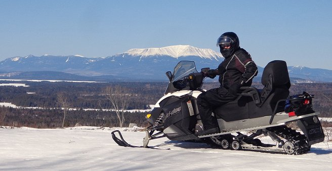 Ride to Many Scenic Vistas on our Groomed Snowmobile Trails