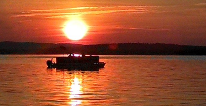 Many Guests Enjoy a Sunset Boat Ride