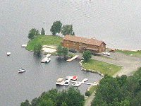 Aerial view of 5 Lakes Lodge and Marina