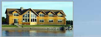 5 Lakes Lodge bed and breakfast with private beach on the shore of South Twin Lake in Millinocket, Maine - click image for a larger view in a new window