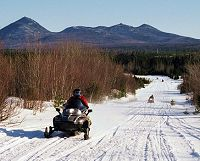 Katahdin region snowmobile trail