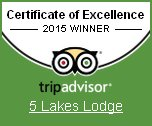 Tripadvisor 2015 Certificate of Excellence