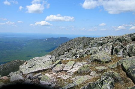 Mt Katahdin Abol Trail looking west toward Hunt Trail