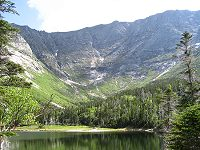 Chimney Pond toward Katahdin