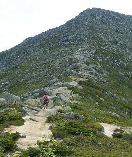 The Gateway on Mt Katahdin's Hunt Trail. The tableland is at the top of this rise