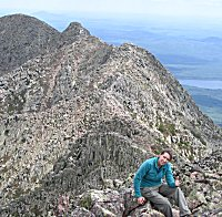 Hiker on South Peak - Knife Edge Trail