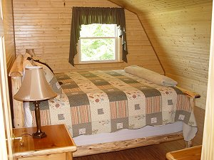 Eagle's Nest - Master Bedroom with King size bed and log frames